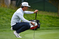 Thorbjorn Olesen (DEN) lines up his putt on 14 during round 1 of the 2019 US Open, Pebble Beach Golf Links, Monterrey, California, USA. 6/13/2019.<br /> Picture: Golffile | Ken Murray<br /> <br /> All photo usage must carry mandatory copyright credit (© Golffile | Ken Murray)