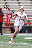 College Park, MD - February 24, 2019: Maryland Terrapins midfielder Meghan Siverson (37) in action during the game between North Carolina and Maryland at  Capital One Field at Maryland Stadium in College Park, MD.  (Photo by Elliott Brown/Media Images International)