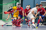 Mannheim, Germany, January 08: During the 1. Bundesliga men indoor hockey match between TSV Mannheim and Mannheimer HC on January 8, 2020 at Primus-Valor Arena in Mannheim, Germany. Final score 5-4. (Photo by Dirk Markgraf / www.265-images.com) *** Teo Hinrichs #6 of Mannheimer HC