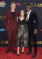 "HOLLYWOOD- SEPTEMBER 26:  Hannah Zeile, Logan Shroyer and Niles Fitch at the premiere of NBC's ""This Is Us"" Season 2 at NeueHouse Hollywood on September 26, 2017 in Hollywood, California. (Photo by Scott Kirkland/PictureGroup)"