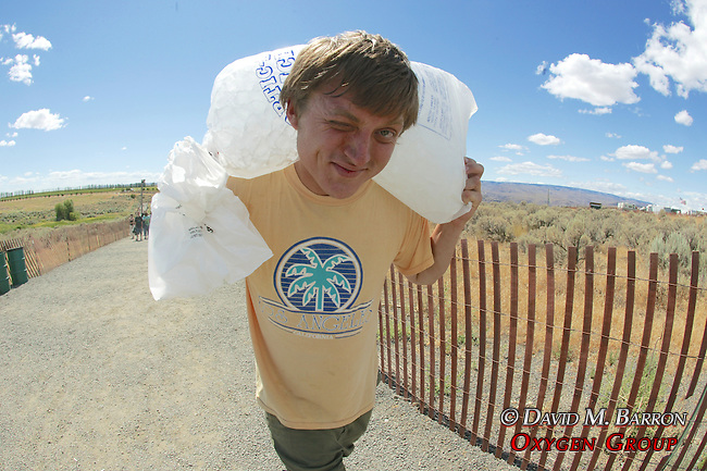 Carrying Ice Back to Campground
