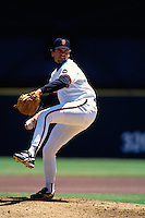 SAN FRANCISCO, CA - John Burkett of the San Francisco Giants pitches during a game at Candlestick Park in San Francisco, California in 1995. Photo by Brad Mangin