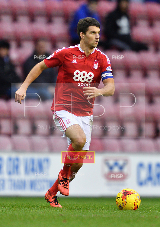 25/02/2017 Sky Bet Championship Wigan Athletic v Nottingham Forest<br /> <br /> Eric Lichaj, Nottingham Forest FC