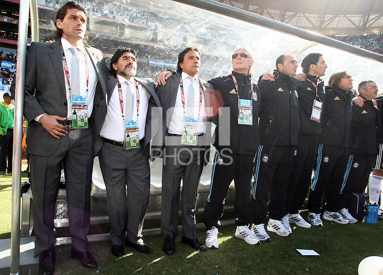 Diego Maradona coach of Argentina before game against South Korea