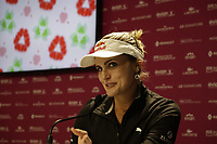 Lexi Thompson (USA) press conference during Tuesday's Practice Day of The Evian Championship 2017, the final Major of the ladies season, held at Evian Resort Golf Club, Evian-les-Bains, France. 12th September 2017.<br /> Picture: Eoin Clarke | Golffile<br /> <br /> <br /> All photos usage must carry mandatory copyright credit (&copy; Golffile | Eoin Clarke)