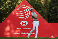 Danny Willett (ENG) on the 9th tee during round 1 at the WGC HSBC Champions, Sheshan Golf Club, Shanghai, China. 31/10/2019.<br /> Picture Fran Caffrey / Golffile.ie<br /> <br /> All photo usage must carry mandatory copyright credit (© Golffile | Fran Caffrey)