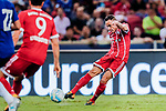 Bayern Munich Defender Rafinha de Souza (R) attempts a kick while look for scoring his goal during the International Champions Cup match between Chelsea FC and FC Bayern Munich at National Stadium on July 25, 2017 in Singapore. Photo by Marcio Rodrigo Machado / Power Sport Images