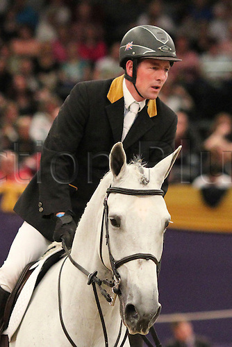 10.10.2010 The Horse of the Year Show from the NEC in Birmingham. HOYS leading Showjumper of the year. Guy Williams riding Depardieu Van't Kiezelhof
