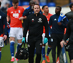 Paul Watson Sheffield Utd physio during the championship match at St Andrews Stadium, Birmingham. Picture date 21st April 2018. Picture credit should read: Simon Bellis/Sportimage