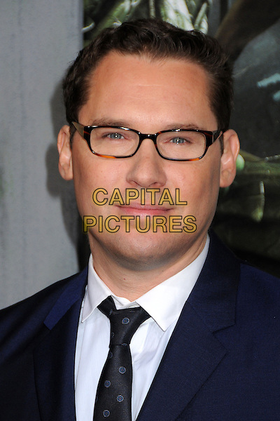 """Bryan Singer.""""Jack The Giant Slayer"""" Los Angeles Premiere held at Grauman's Chinese Theatre, Hollywood, California, USA..February 26th, 2013.headshot portrait blue shirt jacket white black glasses .CAP/ADM/BP.©Byron Purvis/AdMedia/Capital Pictures."""