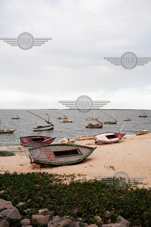 Fishing boats on the coast at Maputo.