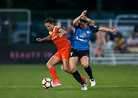 Kansas City, MO - Sunday July 02, 2017: Carli Lloyd, Caroline Flynn during a regular season National Women's Soccer League (NWSL) match between FC Kansas City and the Houston Dash at Children's Mercy Victory Field.
