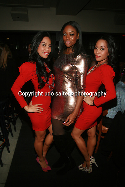 To-Tam Sachika, Ebony J and  To-Nya Sachika Attend JONES MAGAZINE PRESENTS SACHIKA TWINS BDAY BASH at SL, NY 12/12/11