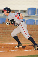 Danville Braves Bobby Raugh at Howard Johnson Field in Johnson City, Tennessee July 6, 2010.   Johnson City won the game 6-5.  Photo By Tony Farlow/Four Seam Images
