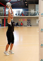 14.10.2016 Silver Ferns Mia Wilson in action at the Silver Ferns training at the Auckland Netball Centre in Auckland. Mandatory Photo Credit ©Michael Bradley.