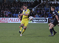 Kenny McLean shoots in the Ross County v St Mirren Scottish Professional Football League match played at the Global Energy Stadium, Dingwall on 17.1.15.
