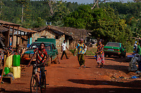 Georgekro cocoa farmers' settlement.