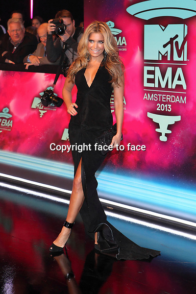 AMSTERDAM - Sylvie Meis at the MTV Europe Music Awards 2013 at the Ziggodome in Amsterdam.<br /> Credit: Saskia Bagchus/All Access/face to face<br /> - No Rights for Belgium, Luxembourg and Netherlands -