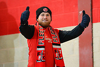 A Fleetwood Town fan celebrates <br /> <br /> Photographer Richard Martin-Roberts/CameraSport<br /> <br /> The EFL Sky Bet League One - Fleetwood Town v Doncaster Rovers - Wednesday 26th December 2018 - Highbury Stadium - Fleetwood<br /> <br /> World Copyright &not;&copy; 2018 CameraSport. All rights reserved. 43 Linden Ave. Countesthorpe. Leicester. England. LE8 5PG - Tel: +44 (0) 116 277 4147 - admin@camerasport.com - www.camerasport.com