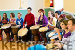 The communal drum circle as part of Cuisle Chorca Dhuibhne, Dingle Global Rhythm Festival, over the weekend.