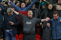 Preston North End fans celebrate their teams second goal<br /> <br /> Photographer Stephen White/CameraSport<br /> <br /> The EFL Sky Bet Championship - Stoke City v Preston North End - Saturday 26th January 2019 - bet365 Stadium - Stoke-on-Trent<br /> <br /> World Copyright © 2019 CameraSport. All rights reserved. 43 Linden Ave. Countesthorpe. Leicester. England. LE8 5PG - Tel: +44 (0) 116 277 4147 - admin@camerasport.com - www.camerasport.com<br /> <br /> Photographer Stephen White/CameraSport<br /> <br /> The EFL Sky Bet Championship - Stoke City v Preston North End - Saturday 26th January 2019 - bet365 Stadium - Stoke-on-Trent<br /> <br /> World Copyright © 2019 CameraSport. All rights reserved. 43 Linden Ave. Countesthorpe. Leicester. England. LE8 5PG - Tel: +44 (0) 116 277 4147 - admin@camerasport.com - www.camerasport.com