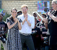 Prince Harry Duke of Sussex and Meghan Markle Duchess of Sussex Visit Justice Desk initiative at Nya
