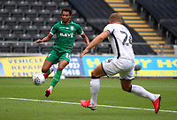 5th July 2020; Liberty Stadium, Swansea, Glamorgan, Wales; English Football League Championship, Swansea City versus Sheffield Wednesday; Jacob Murphy of Sheffield Wednesday takes a shot but misses the target