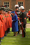 The Royal Hospital Chelsea. Chelsea Pensioners. The Founders Day annual celebration. London SW3 England. 2006