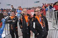 OLYMPICS: SOCHI: Adler Arena, 08-02-2014, Nico Hofmann, Sicco Janmaat, Jac Orie, ©foto Martin de Jong