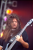 SEPULTURA - Paolo Jr - performing live at the Pinkop Festival at Landgraaf Netherlands - 27 May 1996.  Photo credit: George Chin/IconicPix