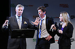 Karl Kenzler, Duke Lafoon and Kara Guy from 'Clinton' performs in a special preview of the 2014 New York Musical Theatre Festival (NYMF) at Ford Foundation Studio Theatre in The Pershing Square Signature Center on July 2, 2014 in New York City.