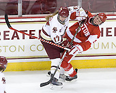 Danielle Welch (BC - 17), Jenn Wakefield (BU - 9) - The visiting Boston University Terriers defeated the Boston College Eagles 1-0 on Sunday, November 21, 2010, at Conte Forum in Chestnut Hill, Massachusetts.