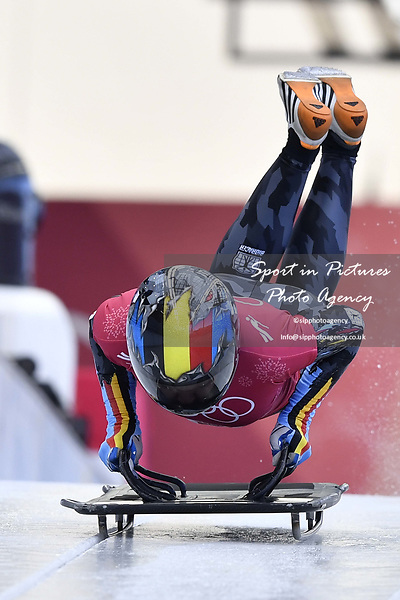 Kim Meylemans (BEL). Skeleton training. Alpensia sliding centrePyeongchang2018 winter Olympics. Alpensia. Republic of Korea. 13/02/2018. ~ MANDATORY CREDIT Garry Bowden/SIPPA - NO UNAUTHORISED USE - +44 7837 394578