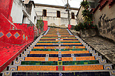BRAZIL, Rio de Janiero, Escadaria Selarón, Stairs connecting Santa Theresa to Lapa