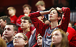 UNCASVILLE CT. 17 March 2018-031718SV01-Alistair Brodhead, 15,  of Warren reacts to the score in the 4th quarter of Wamogo&rsquo;s 58-40 loss to Cromwell during the CIAC Division V Finals at Mohegan Sun Arena in Uncasville Saturday.<br /> Steven Valenti Republican-American