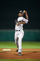 Glendale Desert Dogs pitcher David Paulino (52), of the Houston Astros organization, during a game against the Scottsdale Scorpions on October 14, 2016 at Scottsdale Stadium in Scottsdale, Arizona.  Scottsdale defeated Glendale 8-7.  (Mike Janes/Four Seam Images)