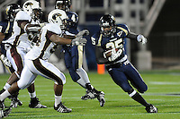 22 November 2008:  FIU defensive back Alonzo Phillips (25) returns a kickoff in the ULM 31-27 victory over FIU at FIU Stadium in Miami, Florida.