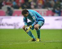 FUSSBALL   1. BUNDESLIGA  SAISON 2012/2013   27. Spieltag   FC Bayern Muenchen - Hamburger SV    30.03.2013 Enttaeuschung; Torwart Rene Adler (Hamburger SV)