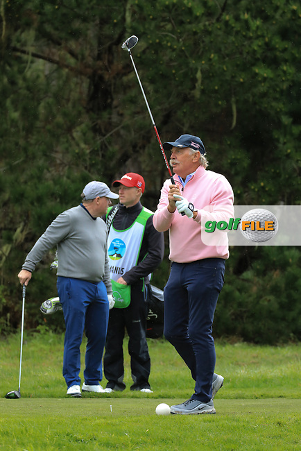 Dermot Desmond (A) in action at Spyglass Hill Golf Course during the third round of the AT&T Pro-Am, Pebble Beach Golf Links, Monterey, USA. 09/02/2019<br /> Picture: Golffile | Phil Inglis<br /> <br /> <br /> All photo usage must carry mandatory copyright credit (© Golffile | Phil Inglis)
