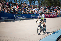 Although possibly being the strongest man in-race, world champ Peter Sagan (SVK/Bora-Hansgrohe) finishes only 38th, more than 5 minutes behind race winner Van Avermaet due to double mechanical failure in the race finale<br /> <br /> 115th Paris-Roubaix 2017 (1.UWT)<br /> One Day Race: Compi&egrave;gne &rsaquo; Roubaix (257km)