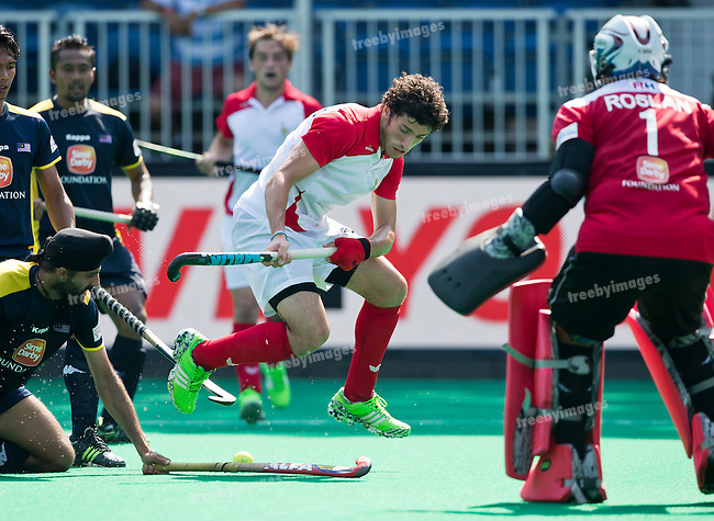 03/07/2015<br /> HWL Semi Final Antwerp Belgium 2015<br /> Malaysia v France M<br /> Simon Martin Brisac of France<br /> Photo: Grant Treeby