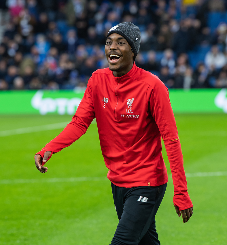 Liverpool's Nathaniel Clyne during the pre-match warmup <br /> <br /> Photographer David Horton/CameraSport<br /> <br /> The Premier League - Brighton and Hove Albion v Liverpool - Saturday 12th January 2019 - The Amex Stadium - Brighton<br /> <br /> World Copyright © 2018 CameraSport. All rights reserved. 43 Linden Ave. Countesthorpe. Leicester. England. LE8 5PG - Tel: +44 (0) 116 277 4147 - admin@camerasport.com - www.camerasport.com