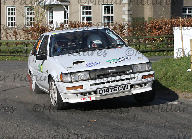 Robert Erwin - Jimmy Graham in a Toyota Corolla at Junction 11 on Special Stage 6 Bucks Head on the Discover Northern Ireland Circuit of Ireland Rally which was a constituent round of  the FIA European Rally Championship, the FIA Junior European Rally Championship, the Clonakilty Irish Tarmac Rally Championship, and the MSA ANICC Northern Ireland Stage Rally Championships which took place on 18.4.14 and 19.4.14 and was based in Belfast.