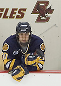 Mike Alexiou in the penalty box - Boston College defeated Merrimack College 3-0 with Tim Filangieri's first two collegiate goals on November 26, 2005 at Kelley Rink/Conte Forum in Chestnut Hill, MA.