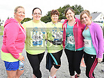 Tracy Dunne, clare Farrelly, Martha Kerr, Audrey Walsh and Tracy McBride who took part in the Seamie Weldon 5K Run in Ardee. Photo:Colin Bell/pressphotos.ie