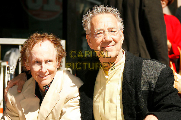 "ROBBY KREIGER & RAY MANZAREK OF ""THE DOORS"".The Doors Celebrate 40th Anniversary with  a Star on the Hollywood Walk of Fame, Hollywood, California , USA,.28 February  2007 .portrait headshot.CAP/ADM/RE.©Russ Elliot/AdMedia/Capital Pictures. *** Local Caption *** ."