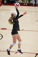STANFORD, CA - September 9, 2016: Jenna Gray at Maples Pavilion. The Purdue Boilermakers defeated the Stanford Cardinal 3 - 2.