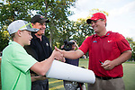 SUGAR GROVE, IL - MAY 29: Braden Thornberry of Ole Miss wins the individual title during the Division I Men's Golf Individual Championship held at Rich Harvest Farms on May 29, 2017 in Sugar Grove, Illinois. Thornberry won the individual national title with a -11 score. (Photo by Jamie Schwaberow/NCAA Photos via Getty Images)