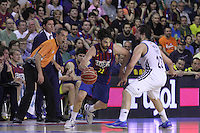 14.06.2013 Bacelona, Spain. Liga Endesa Play Off titulo. Picture show Juan Crlos, Navarro in action during game betwen FC BArcelona v Real Madrid at Palau Blaugrana