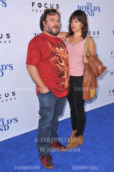 Jack Black &amp; wife Tanya Haden at the Los Angeles premiere of &quot;The World's End&quot; at the Cinerama Dome, Hollywood.<br /> August 21, 2013  Los Angeles, CA<br /> Picture: Paul Smith / Featureflash